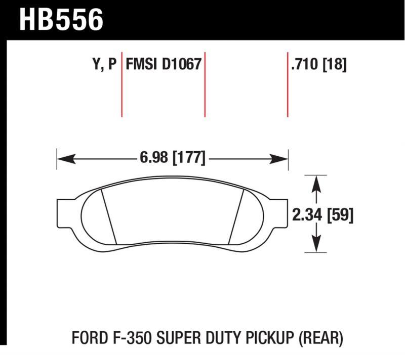 Hawk Performance HB556Y.710 Disc Brake Pad Ford Rear