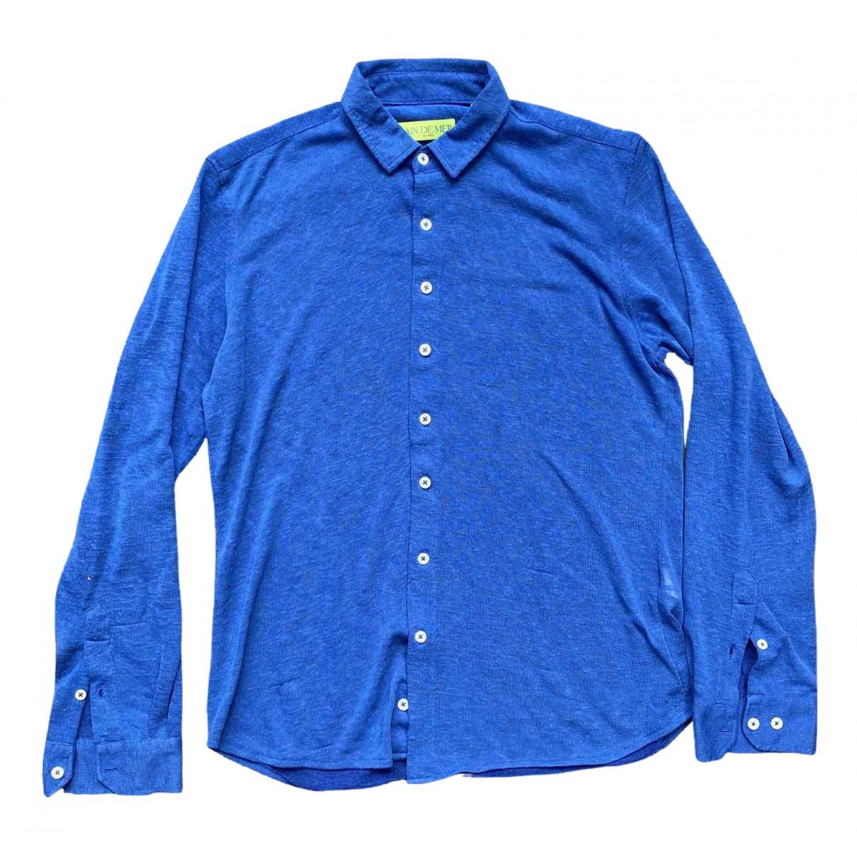 Non Signé / Unsigned \N Blue Cotton Shirts for Men M International