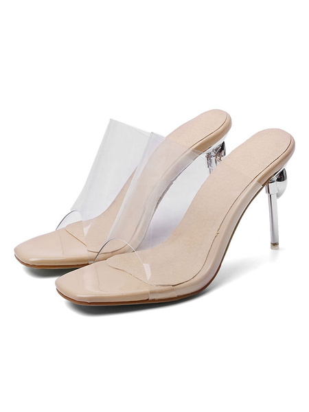 Milanoo Zapatos de verano transparentes con mulas transparentes para mujer