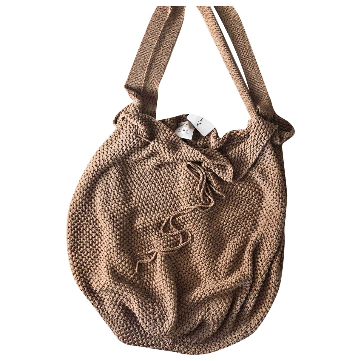 Non Signe / Unsigned \N Handtasche in  Kamel Baumwolle