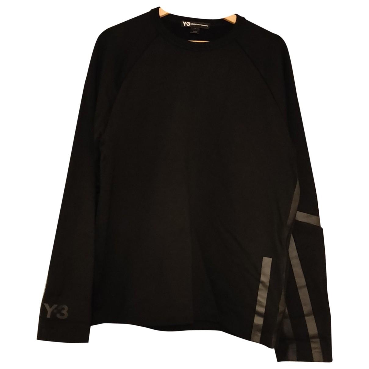 Y-3 By Yohji Yamamoto \N Black Cotton Knitwear & Sweatshirts for Men L International