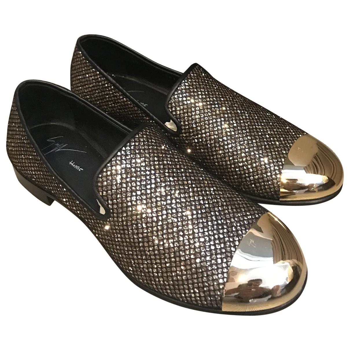 Giuseppe Zanotti \N Black Glitter Flats for Men 40 EU