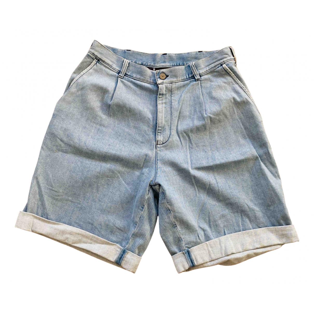 Emporio Armani \N Shorts in  Blau Denim - Jeans