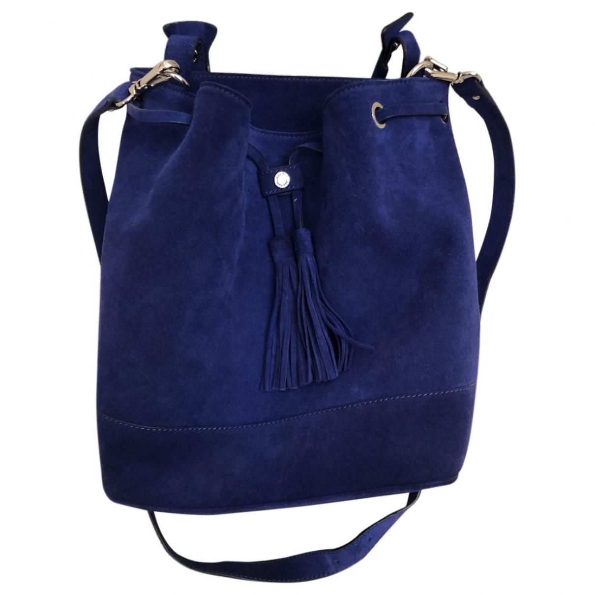 Sandro \N Blue Suede handbag for Women \N