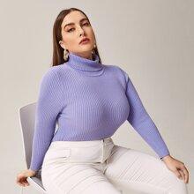 Reiner Pullover in Ubergrosse mit hohem Kragen