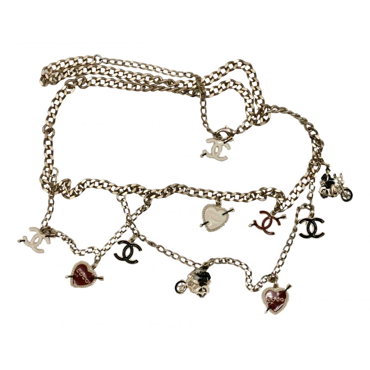 Chanel \N Guertel in  Silber Metall