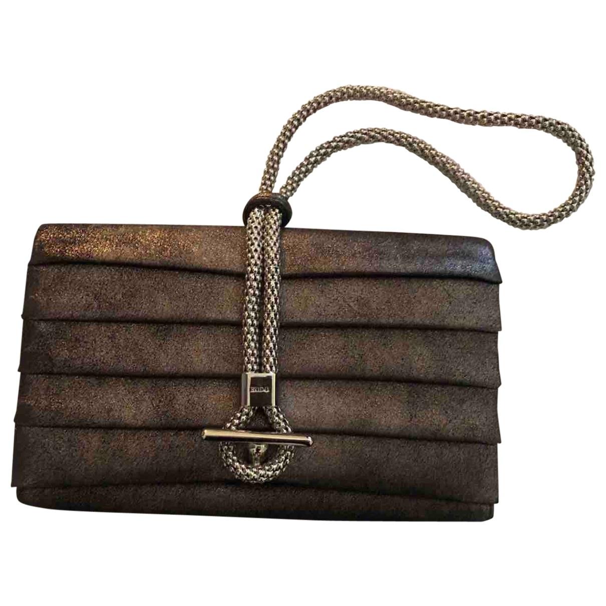 Rodo - Pochette   pour femme en toile - marron