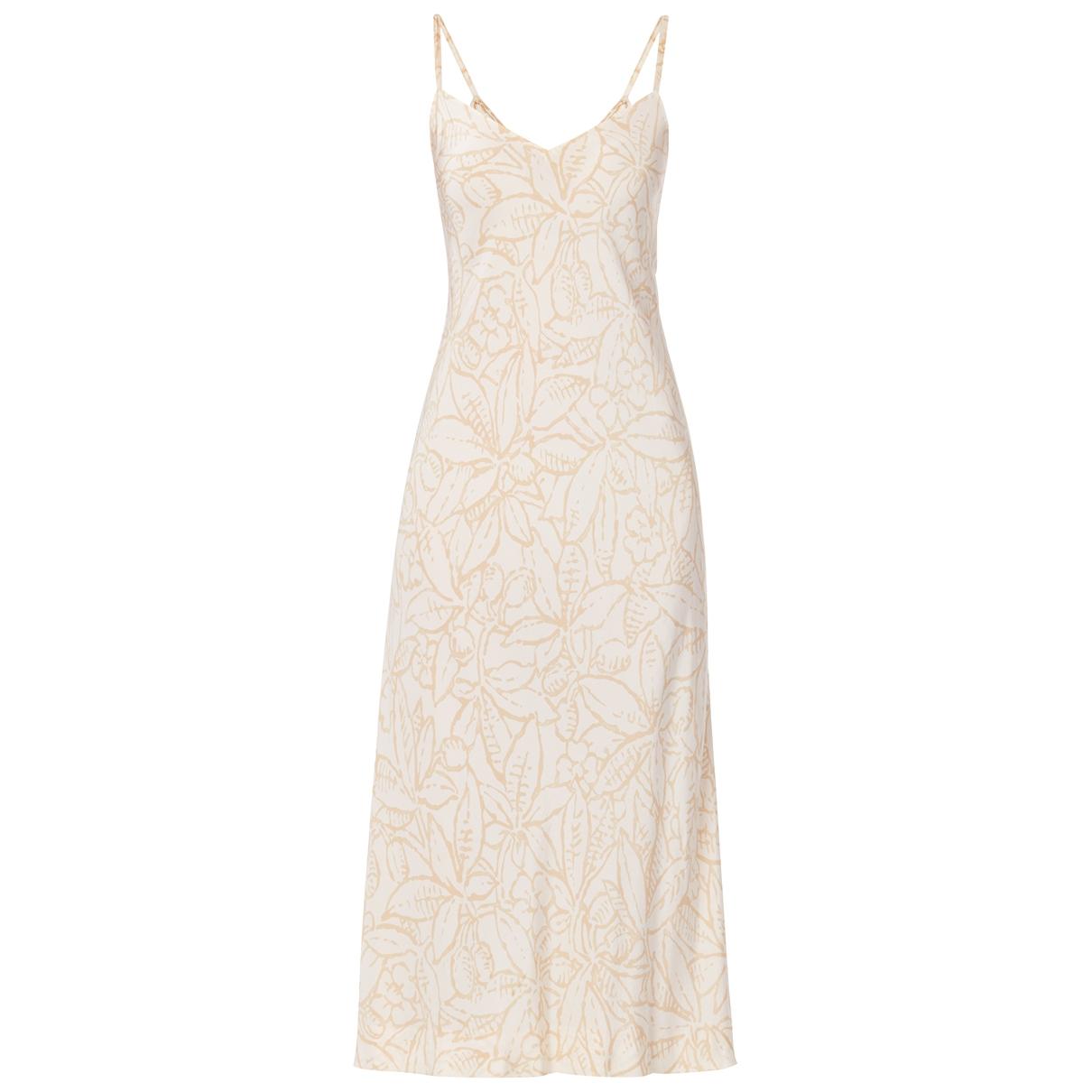 Halston - Robe   pour femme en soie - blanc
