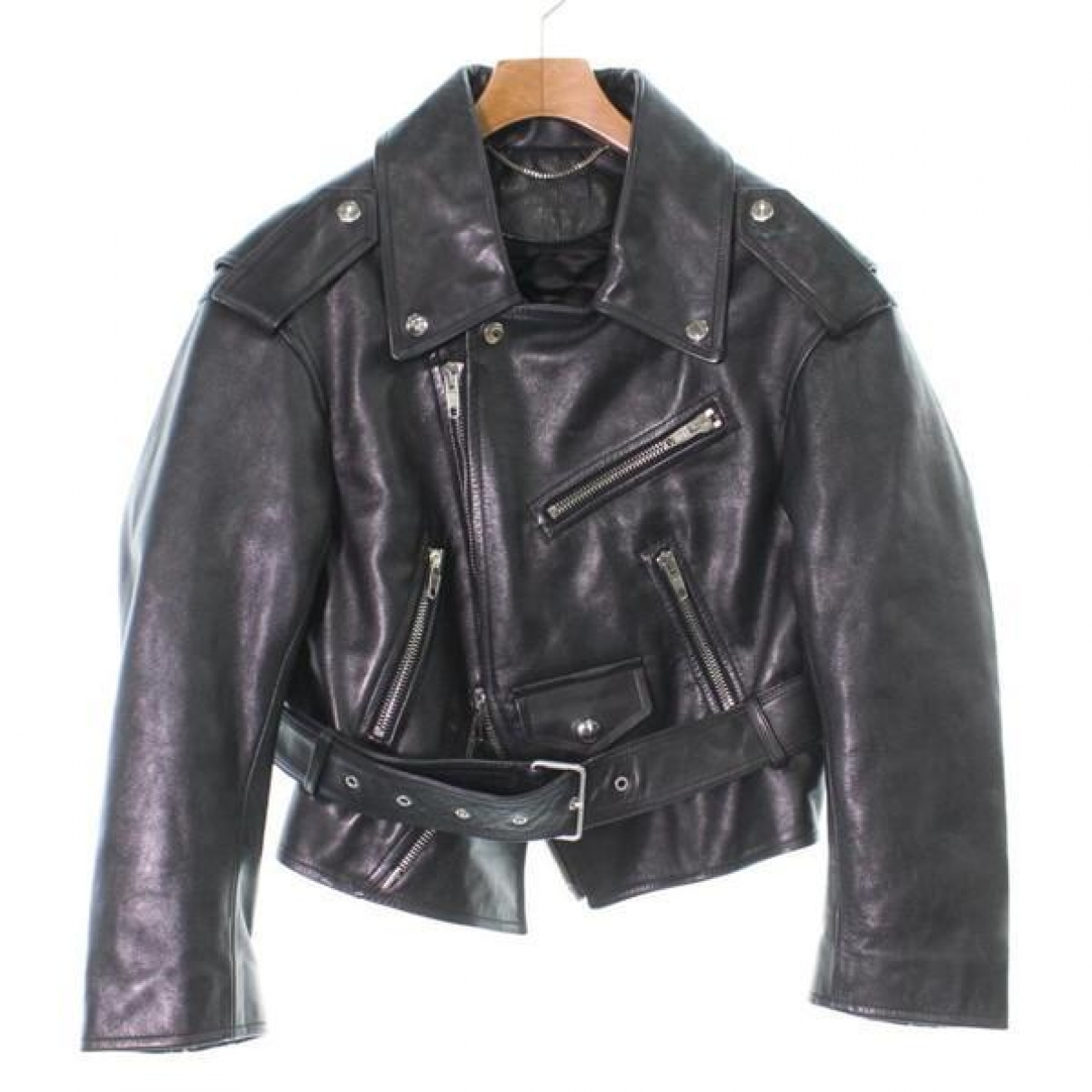 Balenciaga \N Jacke in  Schwarz Leder