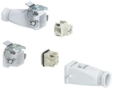 Legrand Heavy Duty Power Connector, 0526 4 Way Male/Female 10A Connector Kit, includes Socket with Lock, Top Entry Plug