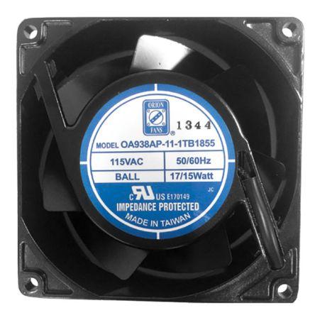 RS PRO , 230 V ac, AC Axial Fan, 92 x 92 x 38mm, 93.4m³/h, 15W, IP55