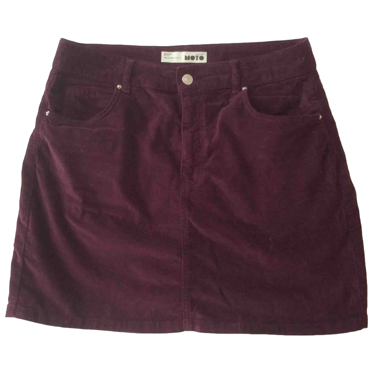 Mini falda de Terciopelo Topshop