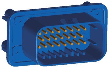 TE Connectivity , AMPSEAL Automotive Connector Plug 3 Row 23 Way, Solder Termination, Blue