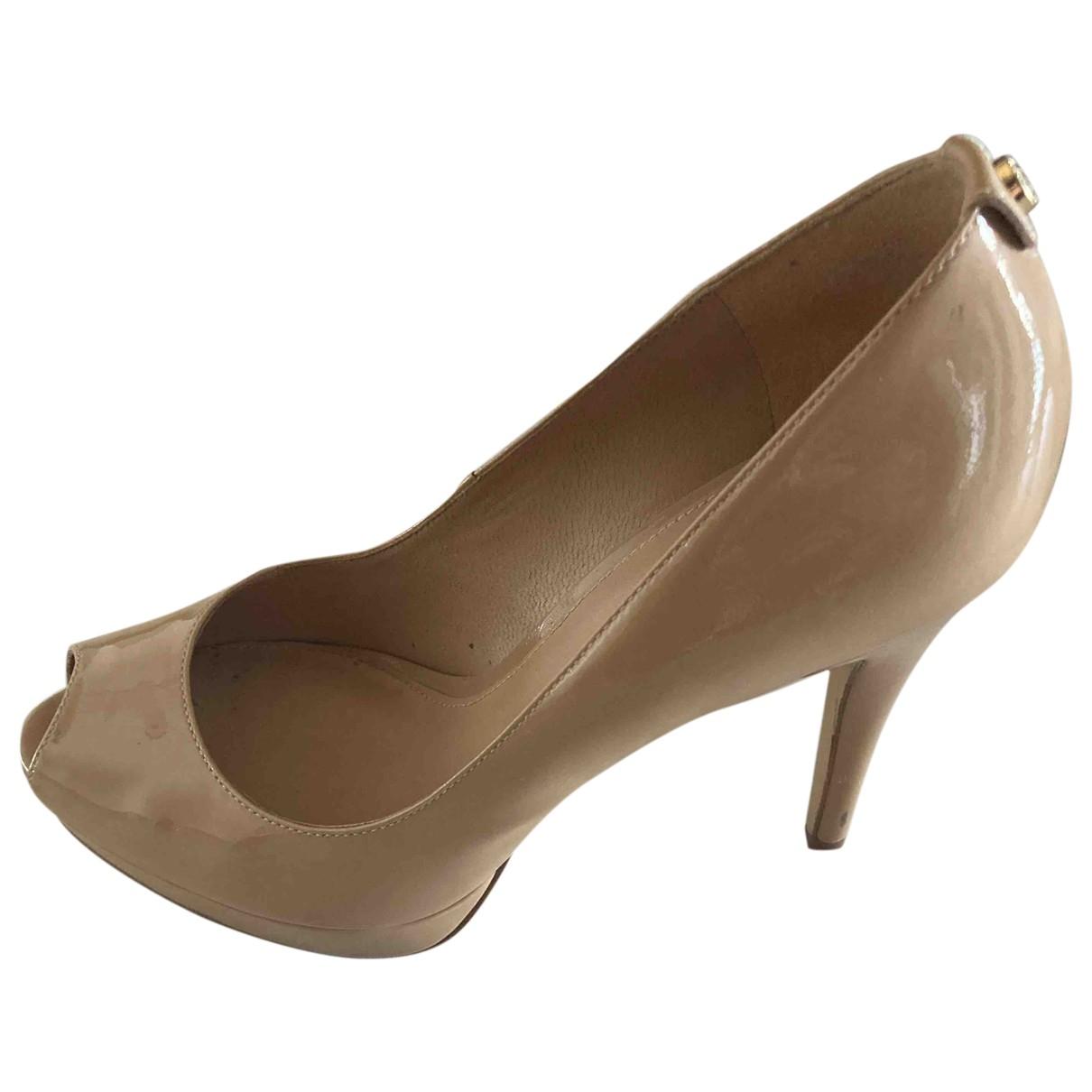 Michael Kors \N Beige Patent leather Heels for Women 8.5 US