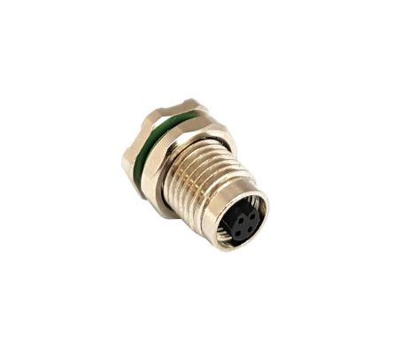 Bulgin Circular Connector, 3 contacts Panel Mount M5 Socket, PCB IP67