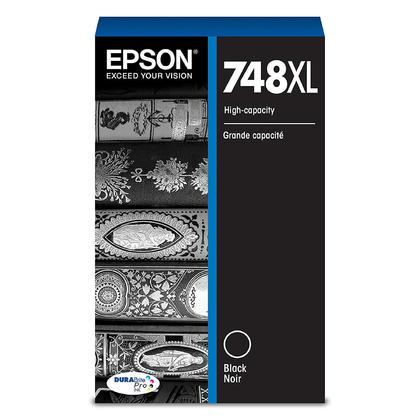 Epson 748XL T748XL120 cartouche d'encre originale noire haute capacite