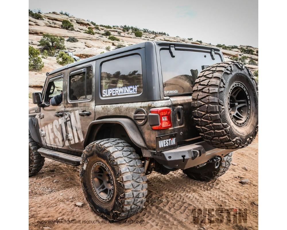 Westin WJ2 Rear Bumper w/ Sensors Jeep Wrangler JL 2018-2019