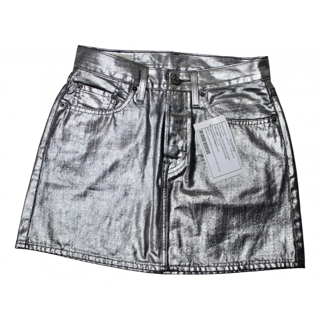 Levi's \N Silver Cotton skirt for Women M International