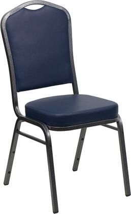 Hercules Collection FD-C01-SILVERVEIN-NY-VY-GG Stacking Banquet Chair with 16 Gauge Steel Frame  Floor Protector Plastic Glides  Silver Vein Metal