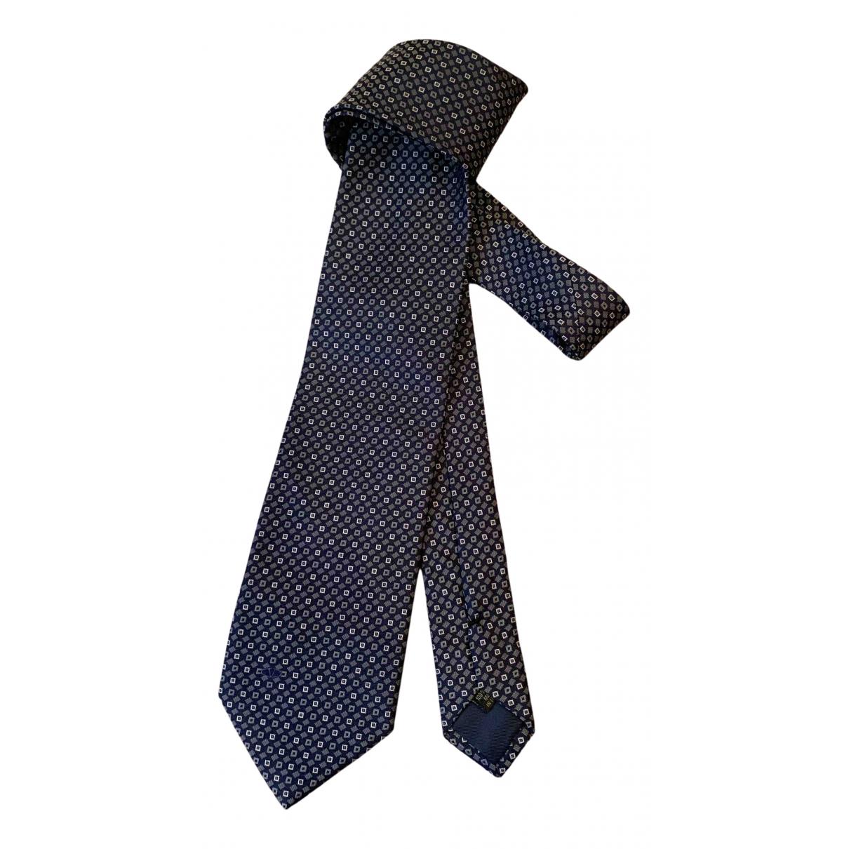 Valentino Garavani N Navy Silk Ties for Men N