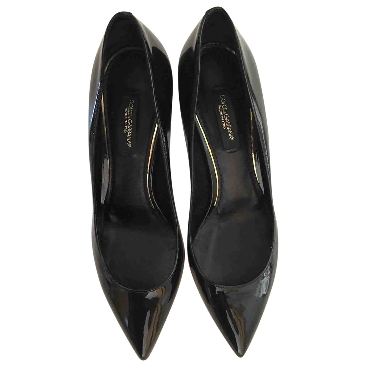 Dolce & Gabbana \N Black Patent leather Heels for Women 37 EU