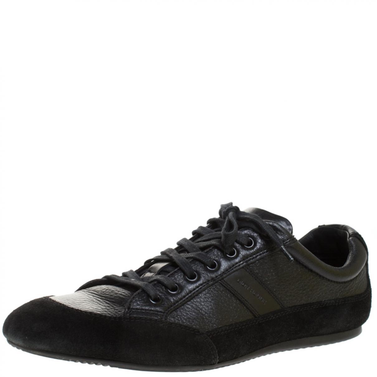 Dior - Baskets   pour homme en cuir - noir