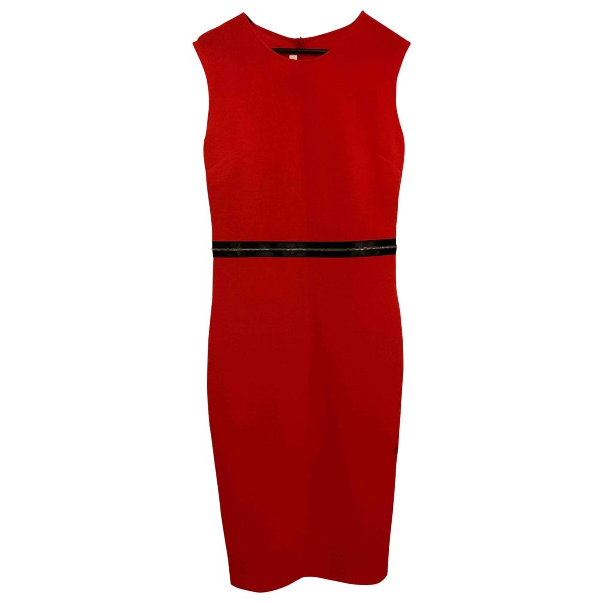 Mcq \N Kleid in  Orange Synthetik