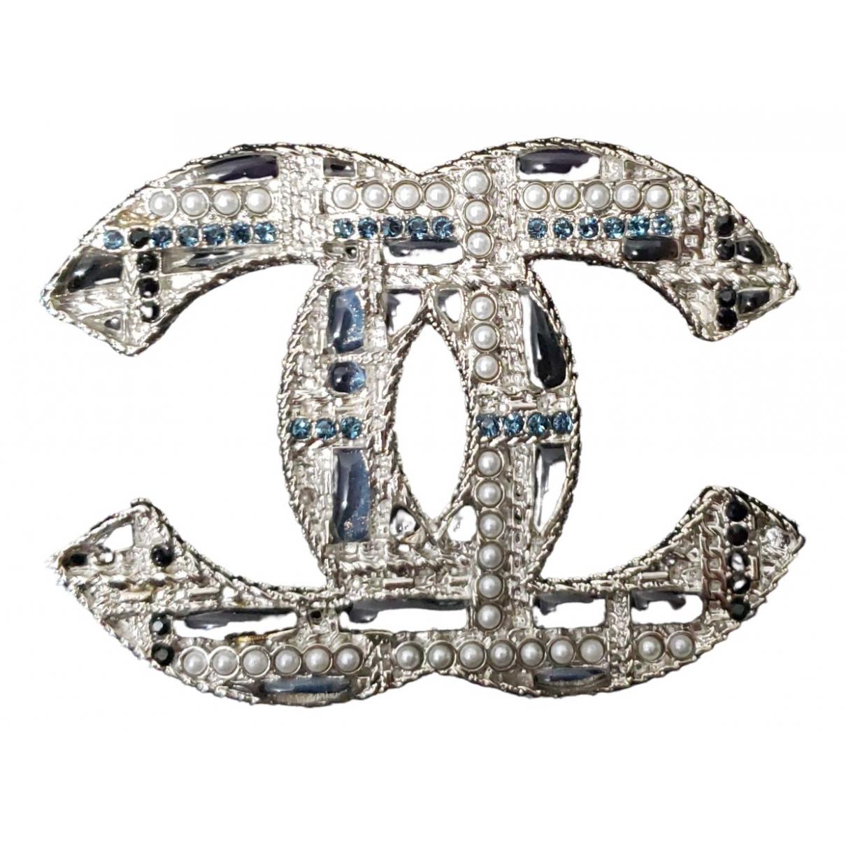 Chanel - Broche CC pour femme en metal - multicolore