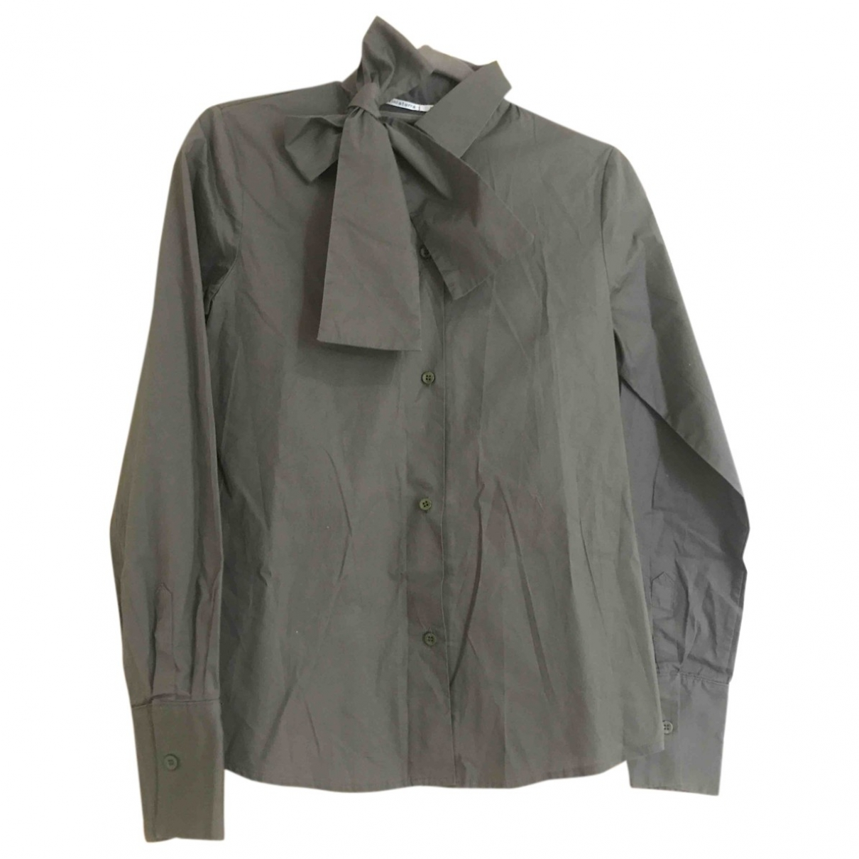Non Signe / Unsigned \N Top in  Khaki Baumwolle
