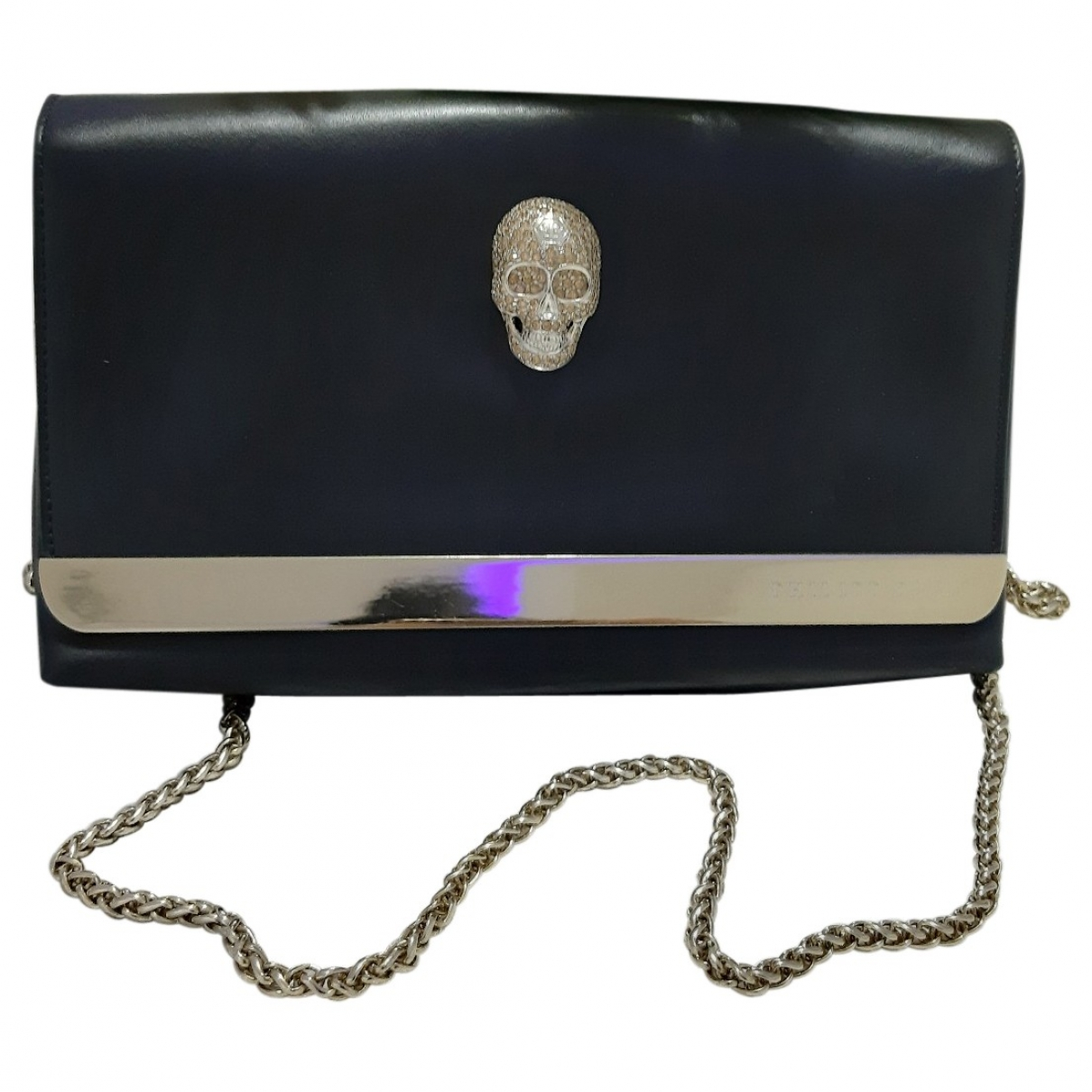 Philipp Plein \N Black Leather Clutch bag for Women \N