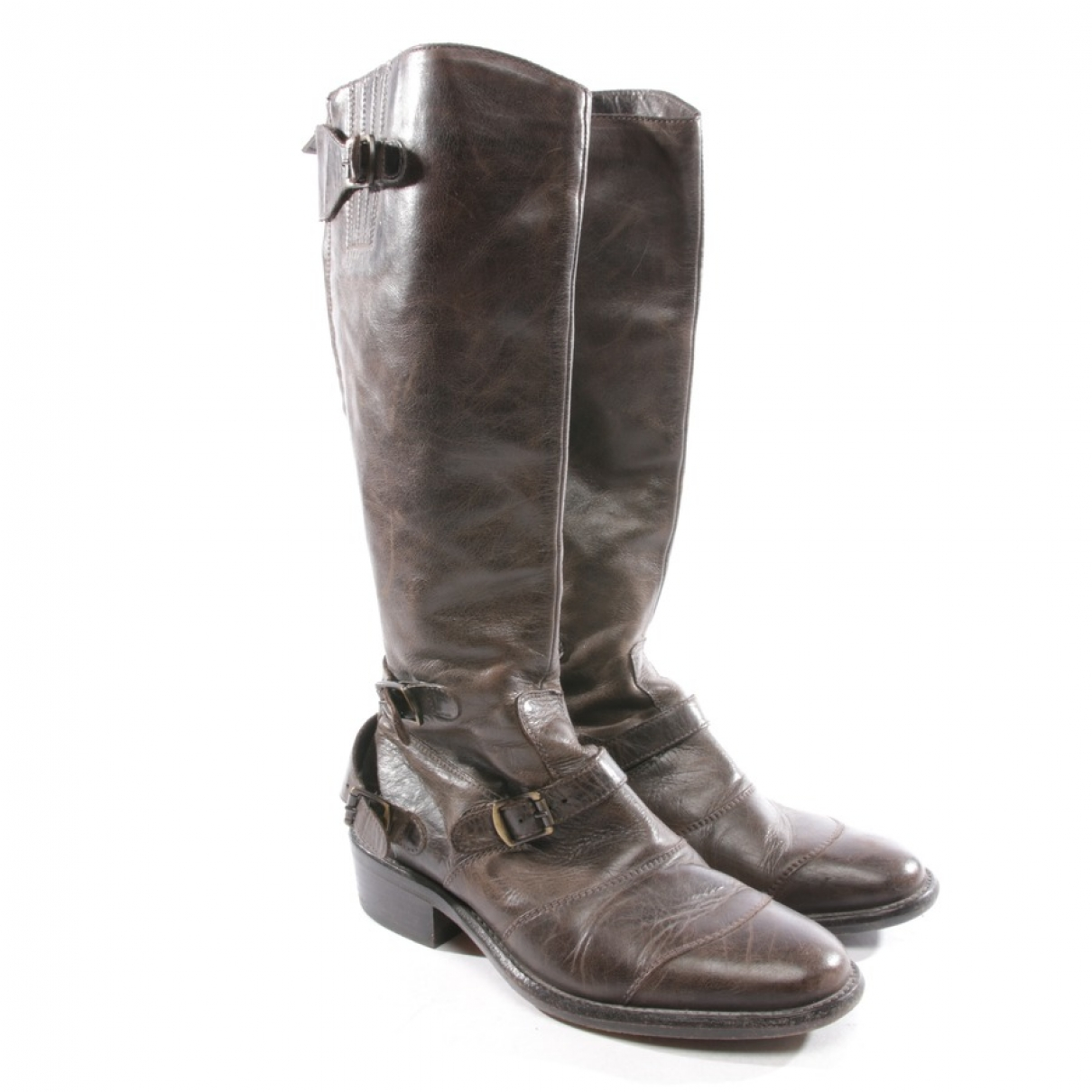 Belstaff \N Brown Leather Boots for Women 38 EU