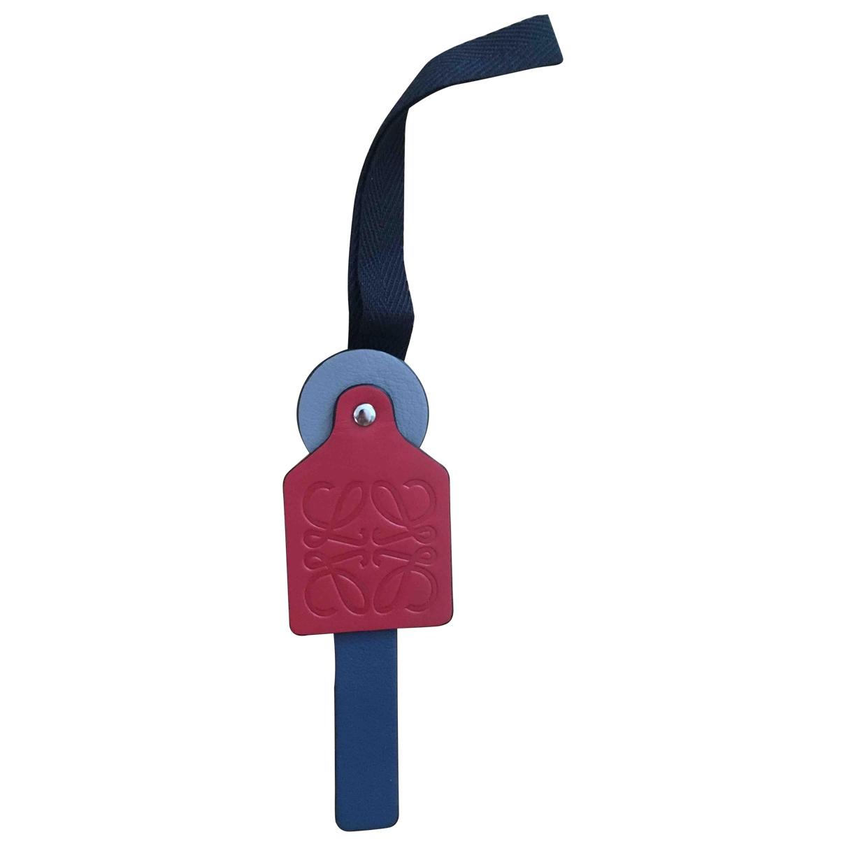 Loewe \N Taschenschmuck in  Rot Leder
