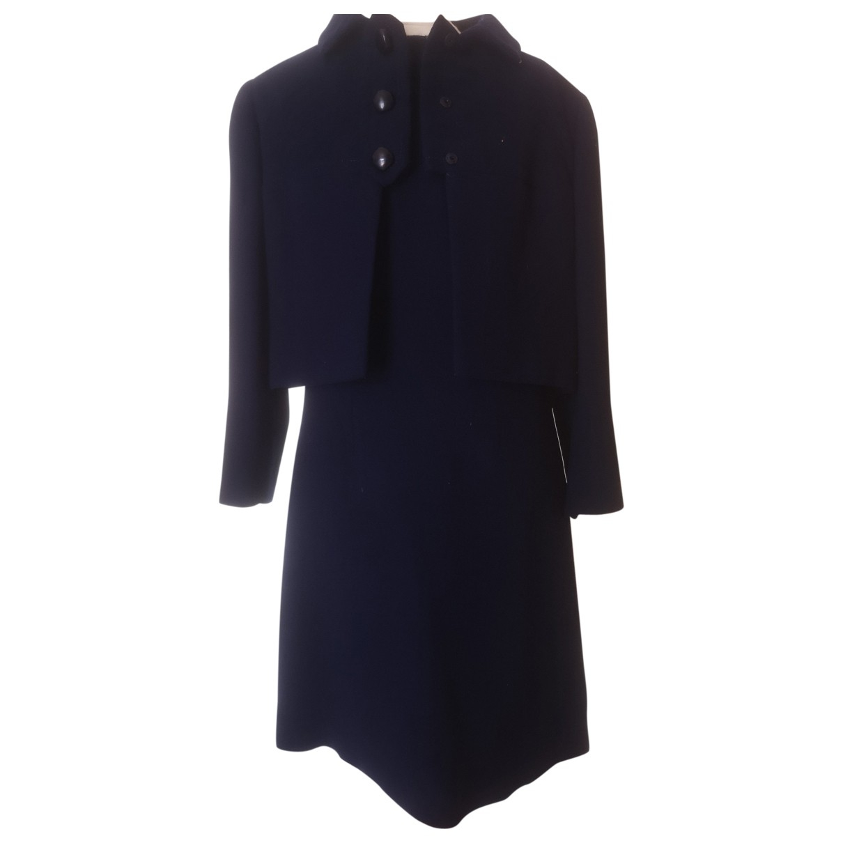 Non Signé / Unsigned \N Blue Wool dress for Women 42 IT