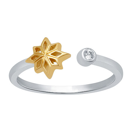 Marvel Universe Fine Jewelry By Marvel Womens Diamond Accent Genuine White Diamond 14K Two Tone Gold Over Silver Marvel Cocktail Ring, 9 , No Color Fa