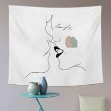 Abstract Figure Graphic Tapestry
