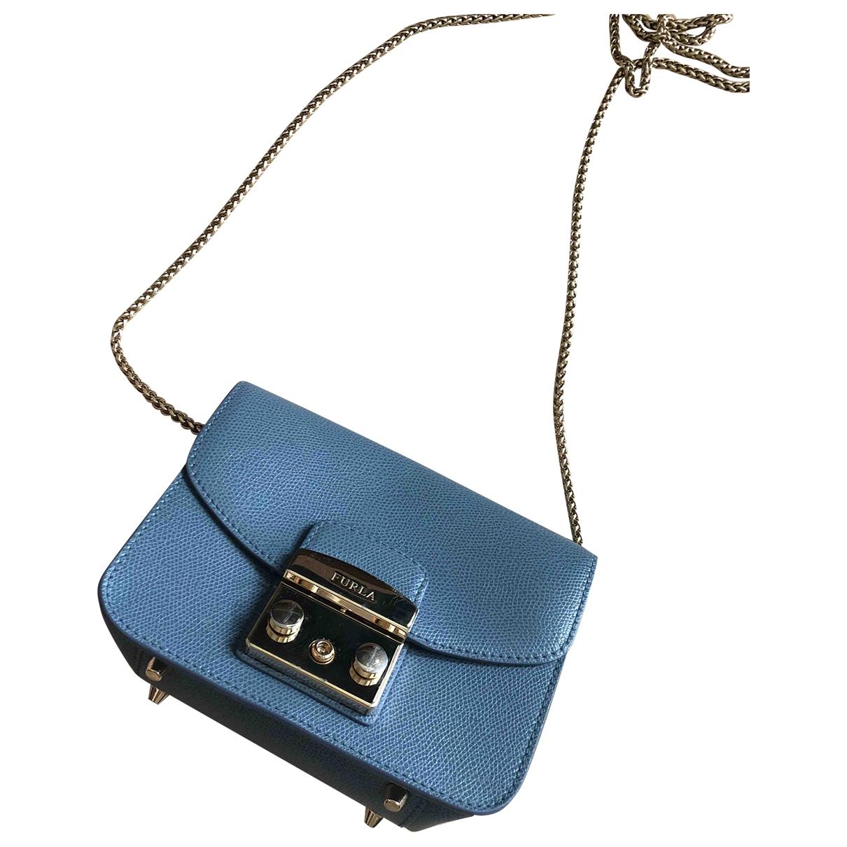 Furla Metropolis Handtasche in  Blau Leder