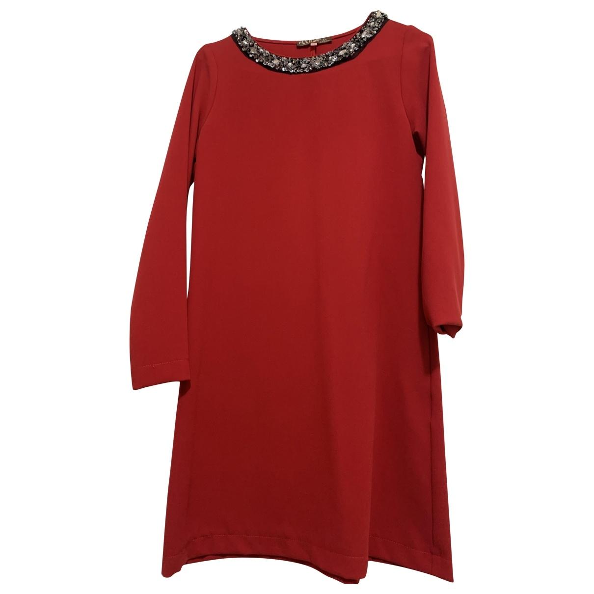 - Robe   pour femme en a paillettes - rouge