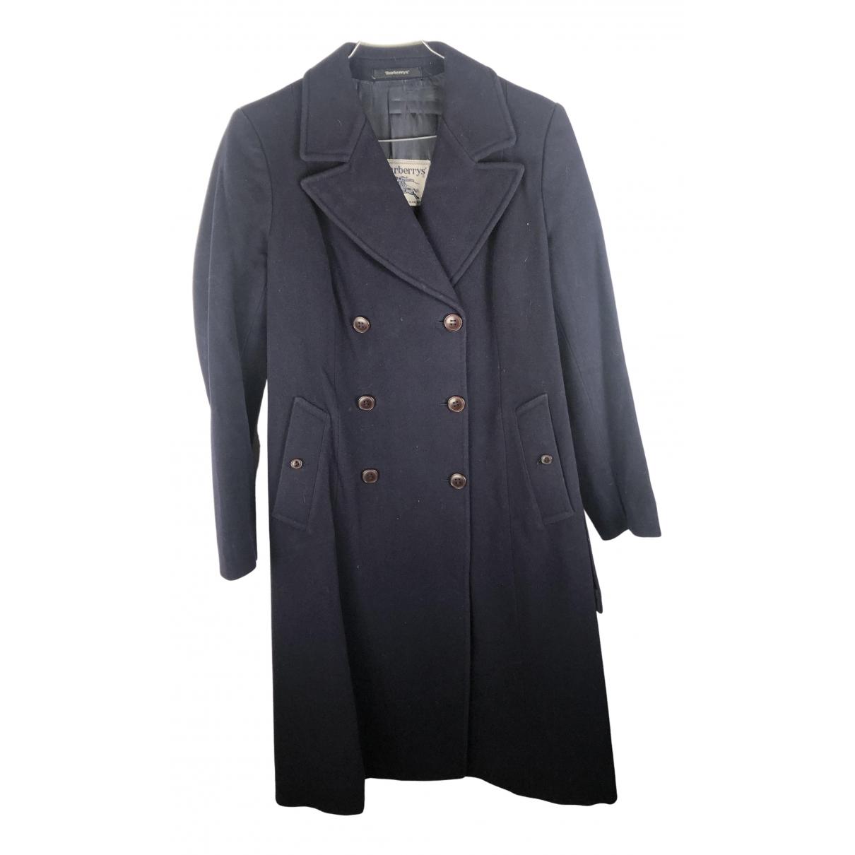 Burberry N Navy Wool coat for Women L International
