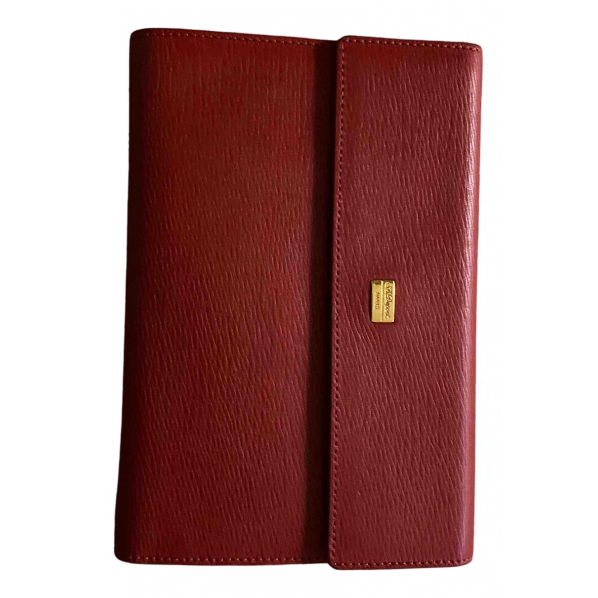 S.t. Dupont - Portefeuille   pour femme en cuir - rouge