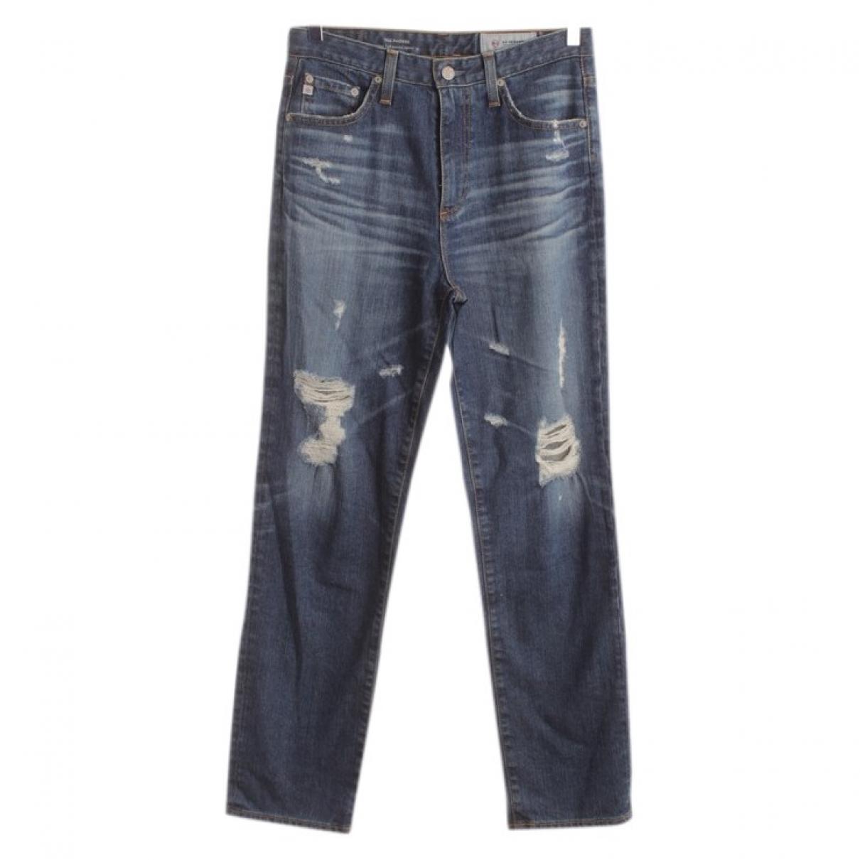 Ag Jeans \N Blue Cotton Jeans for Women 32 FR