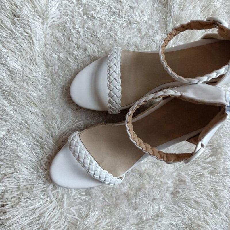 Ericdress Plain Heel Covering Wedge Heel Women's Sandals