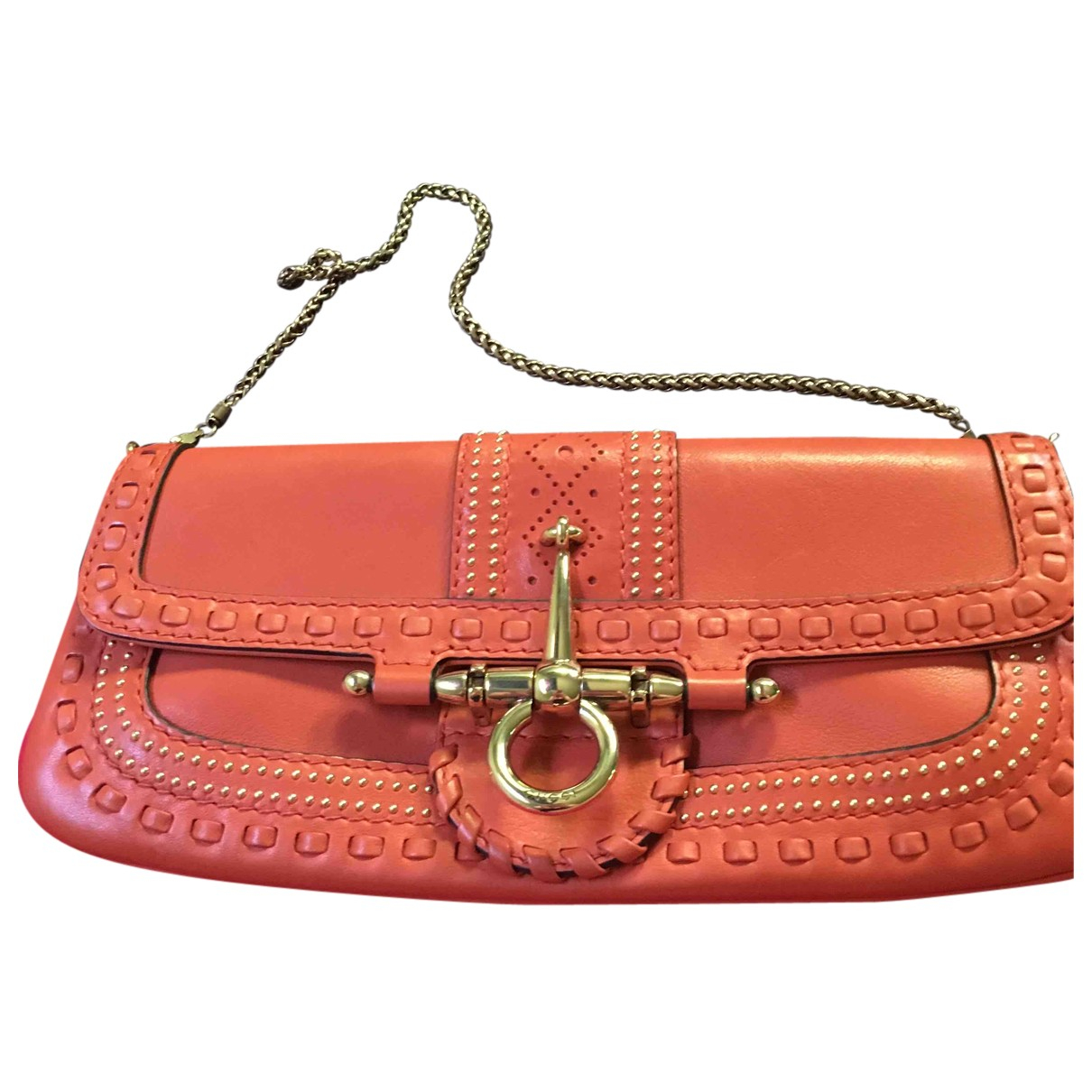 Gucci - Sac a main   pour femme en cuir - orange