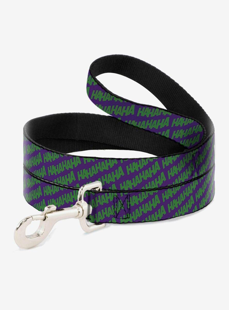 DC Comics Joker Ha Ha Ha Purple Green Dog Leash 6 Ft