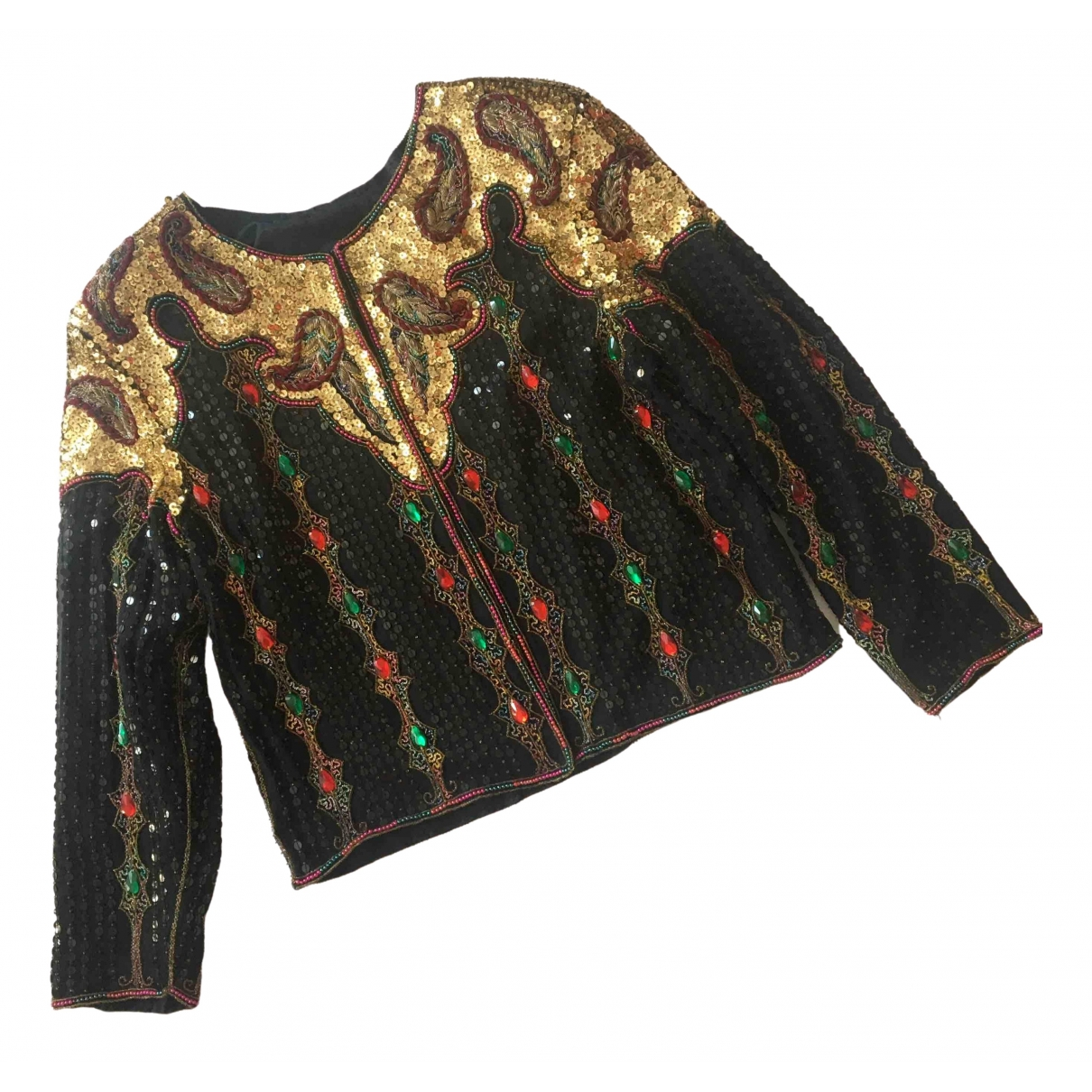 Non Signé / Unsigned \N Black Glitter jacket for Women One Size International