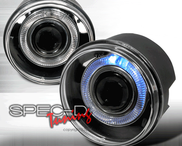 SpecD Halo Projector Clear Fog Lights Jeep Grand Cherokee 04-07