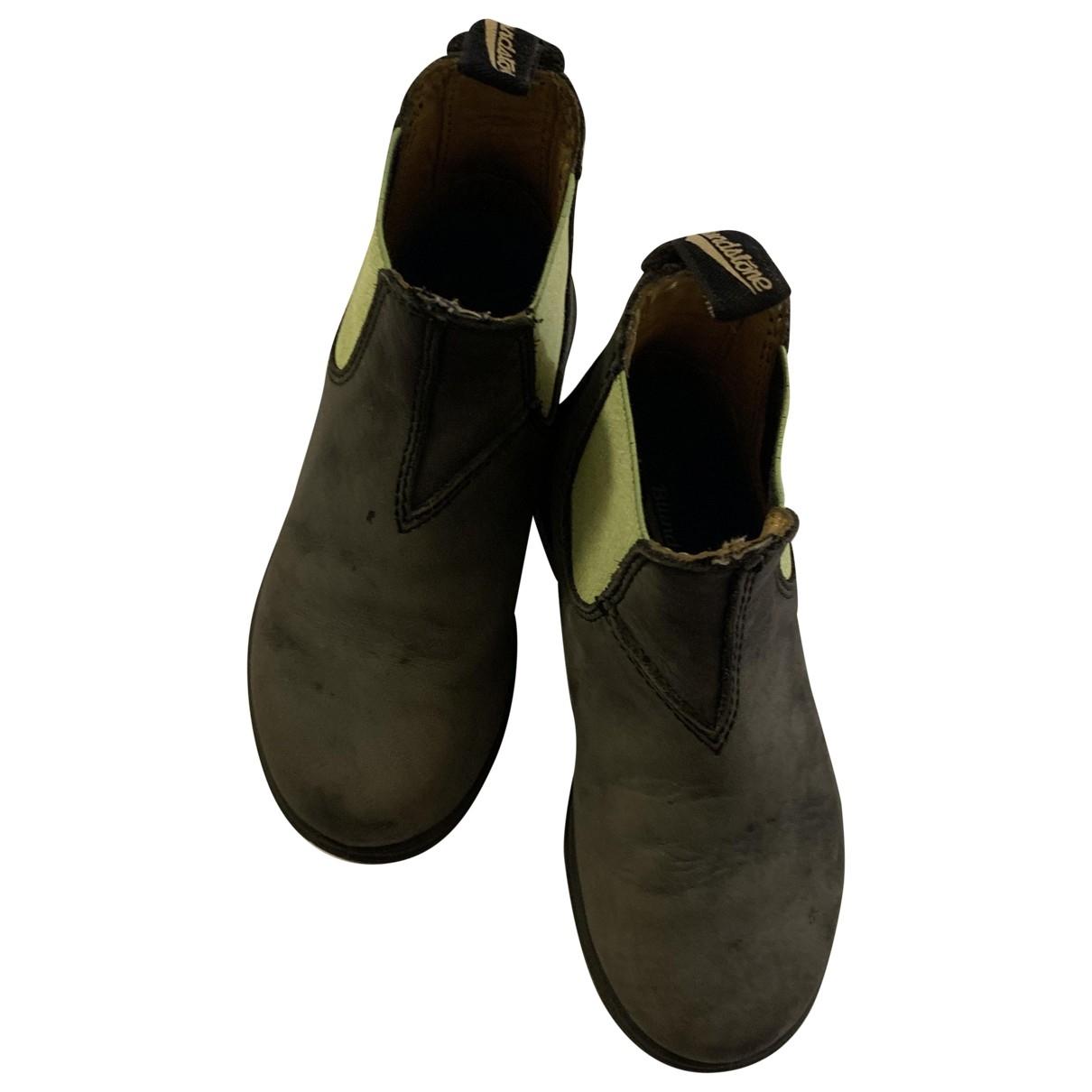 Blundstone \N Stiefel.Stiefeletten in  Grau Leder