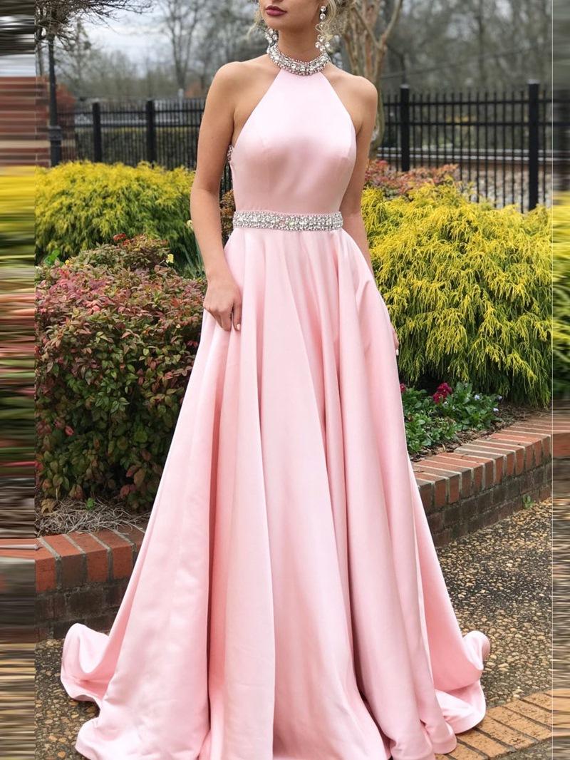 Ericdress Jewel Sleeveless Sweep/Brush Prom Dress