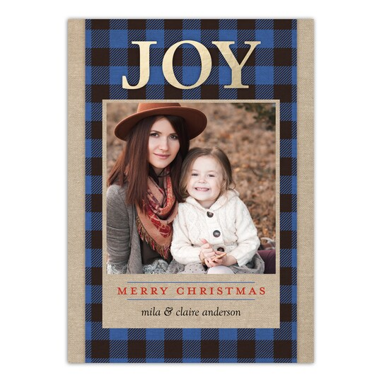 20 Pack of Gartner Studios® Personalized True Joy Holiday Photo Card in Cobalt | 5