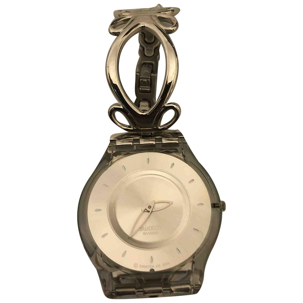 Swatch \N Uhr in  Silber Stahl