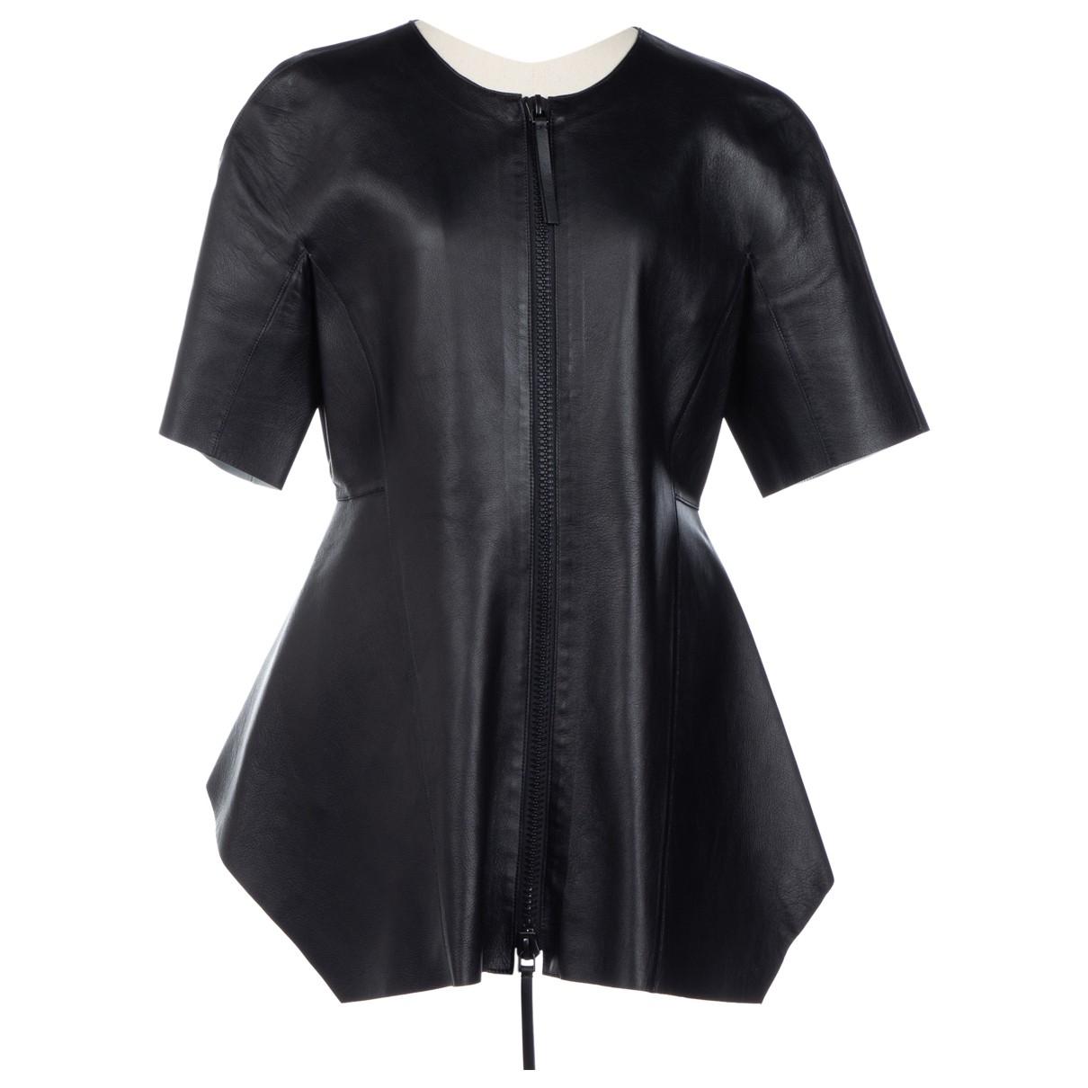 Marni - Veste   pour femme en cuir - noir
